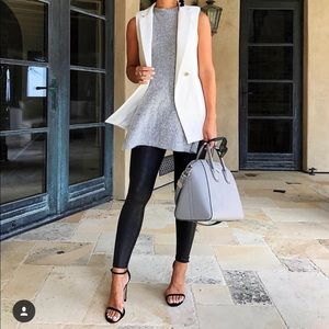 Missguided White Blazer Vest Size 6 (US Small)